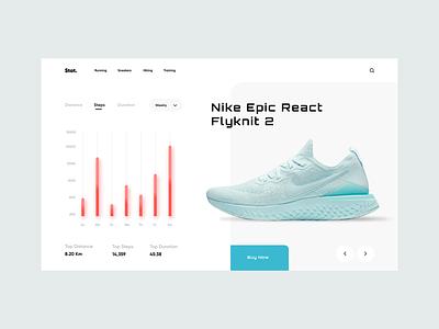 Stat. UI landing ecommoerce shop sneaker nike sneakers shoe dashboard statistic stat