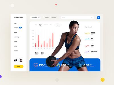Fitness App Dashboard fitness app dashboard product design stat app webdesign web design