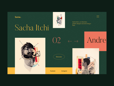 Some. collage new style illustrator graphic design fashion web design webdesign