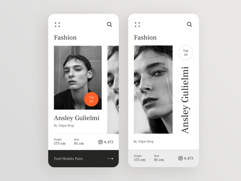 Fashion UI black photography photo model fashion mobile app design mobile app mobile