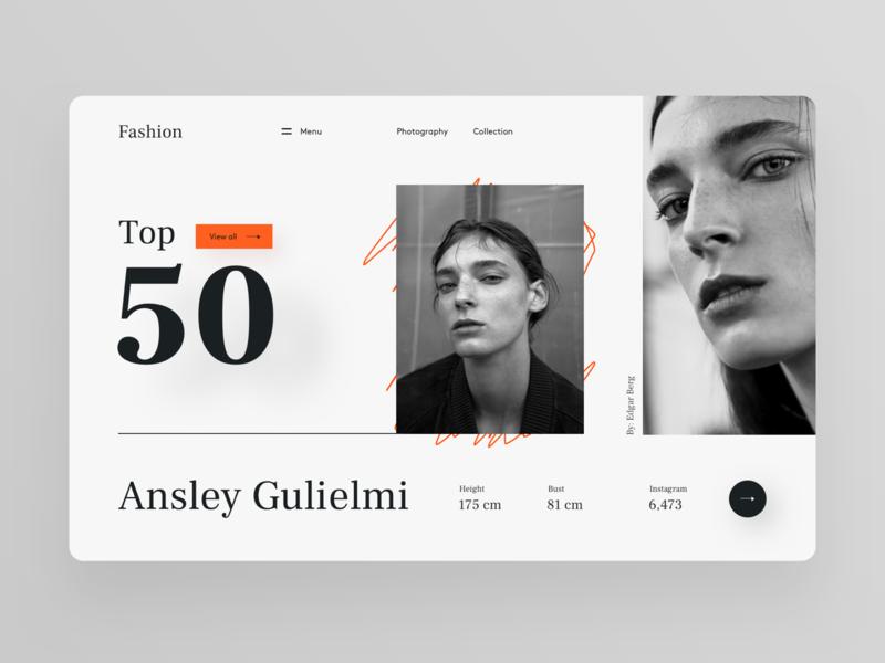 Fashion trandy photography photo model black  white fashion brand web design website webdesign