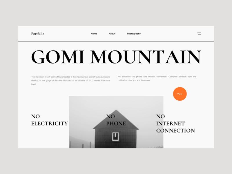 Portfolio photography photo newspaper black  white black booking travel trip mountain web design webdesign