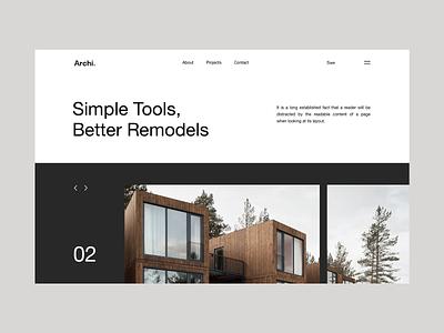 Archi. landing interior web design webdesign architecture