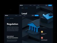 Inner Pages inner page site design site landing web token blockchain design ui ux crypto finance