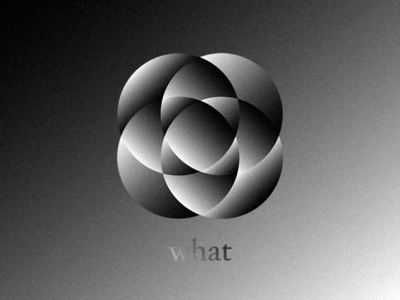 What Flower - Gradient Experiment minimal simple pattern black black and white celestin geometric shape flower experiment berlin