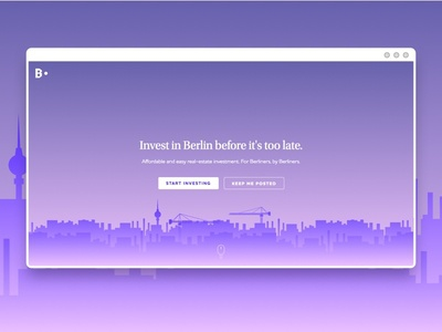 Berlin Circle Home invest purple logo gradient city celestin blue homepage home ux ui berlin