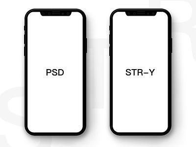Iphonex-psd black white minimalist display free model iphonex screen ux ui