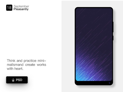 Mix2S psd minimalist simple mockup light ux design ui