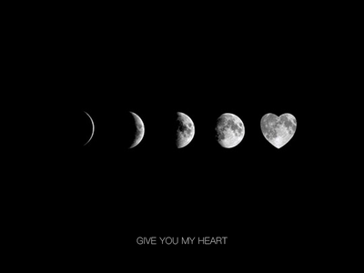 Give you my heart minimalist 理念 光 简单 设计 ui