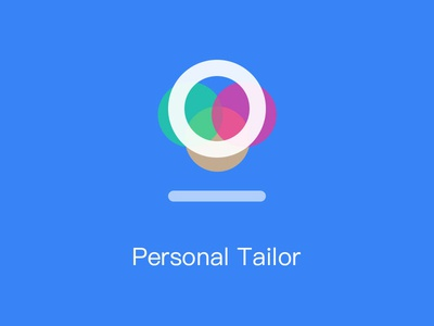 Personal Tailor logo white idea illustration fashion light minimalist simple design ui ux
