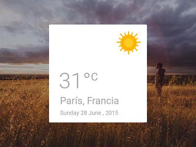 Weather Sunny Pop-up simple sun clima concept design ux ui card pop-up sunny weather