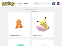 Pokemon Shop - Home