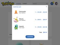 Pokemon Shop - Cart