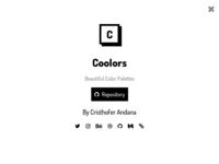 Coolors - Beautiful Color Palettes - About Page