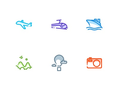 Travel Icons activities fun outdoor line icons travel icons icons