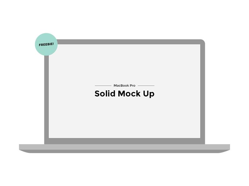 MacBook Pro Solid Mock Up PSD mock up macbook macbook pro solid solid design