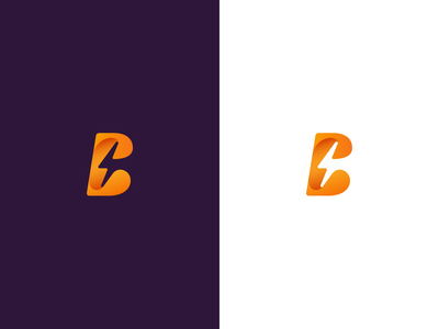 Logo proposal #1 illustrator lightning logo rabbit logo rabbit bunny bolt lightning bolt lightning b b logo letter b logo branding orange brand logo