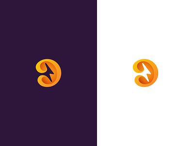 Logo proposal #2 proposal rabbit logo rabbit orange lightning logo lightning bolt logo lightning bolt lightning illustrator bunny bolt logo concept logo design branding b letter logo b logo b