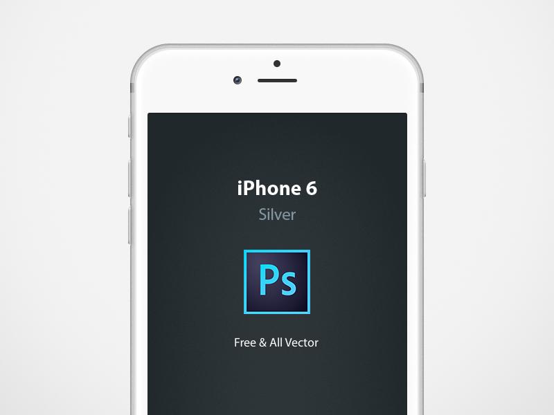 Iphone 6 Mockup Dribbble iphone6 iphone iphone 6 mockup silver vector photoshop