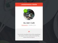 Lounaskone.com quote ux ui design red flat lunch service