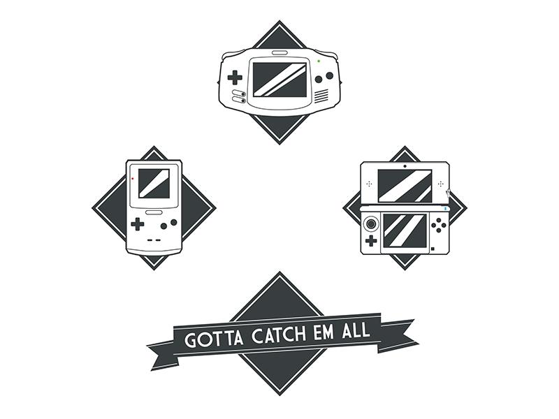 Nintendo Collection gameboy advance mark logo icon 3ds gameboy pokemon nintendo games game vector