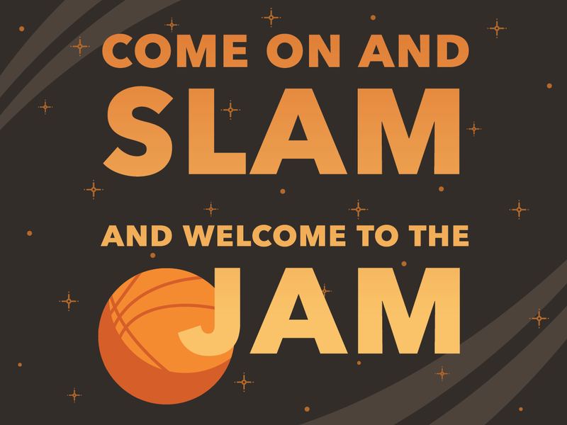 Welcome to the Space Jam slam quad city djs mj looney tunes michael jordan dunk dribble basketball space jam jam space