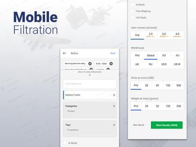 Mobile Refine Search