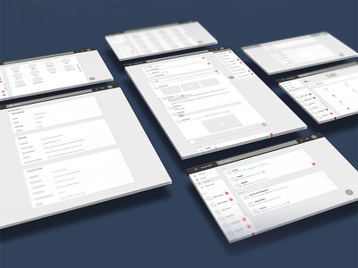 Wireframes skype whatsapp google gmail inbox material contacts voip chat high fidelity wireframe