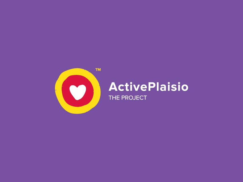 Active Plaisio illustration branding circle identity colours heart symbol logo