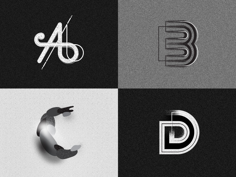 36 Days Of Type graphic design symbols letters experiment d c b a black typography