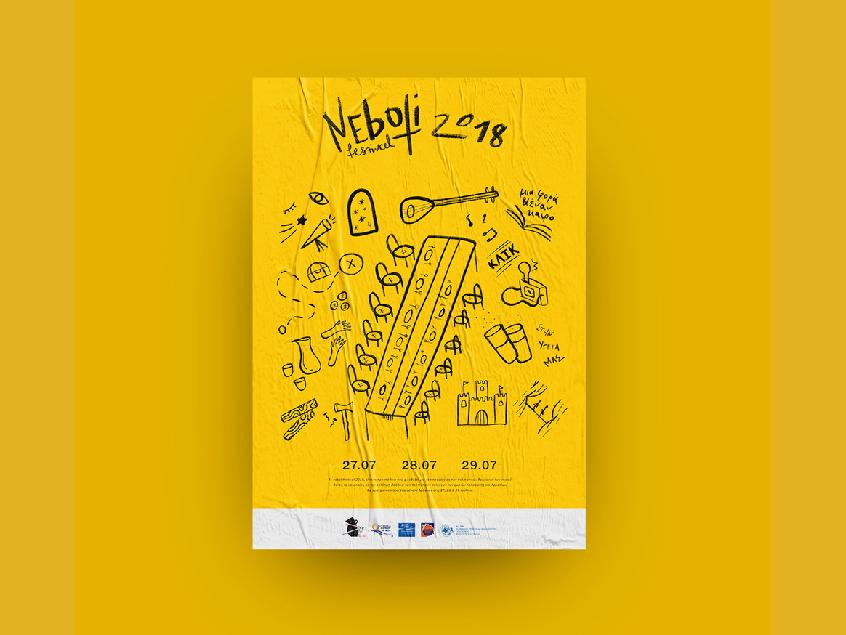 Neboti Fest 2018 procreate colours inspiration graphic design design illustration typography culture festival