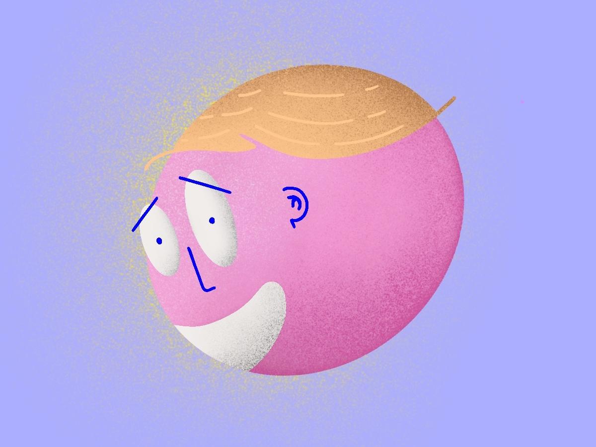 Colorful Face face procreate colours vector inspiration design illustration