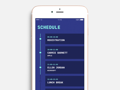 Schedule 🍕 iphone ios schedule blue conference onedayout odo