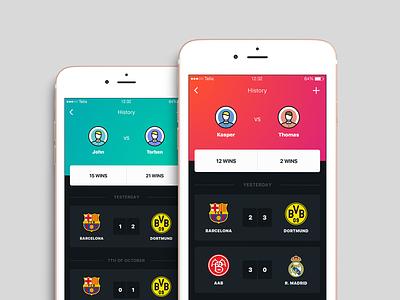Fifa 📲 ui dark iphone fifa ios app