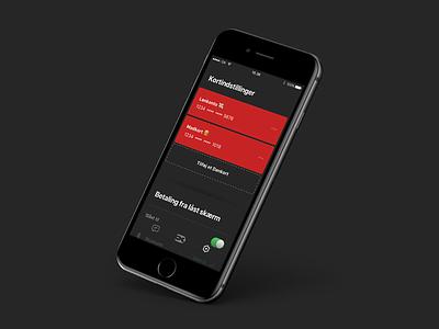 Dankort card settings 💳 iphone ios finance payment dankort