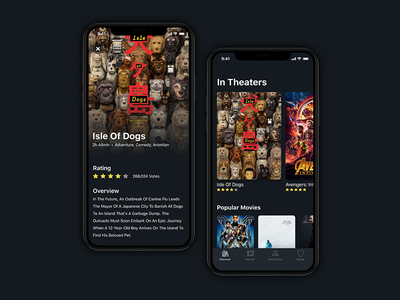 Movies 🍿 iphone figma app ios movie
