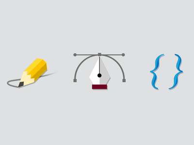 Icon Set flat icons