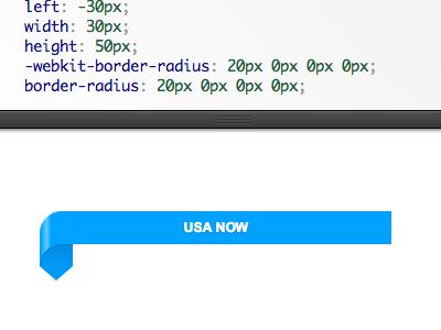 Pure CSS USA Today Style Ribbon pure css ribbon usa today fantasy interactive