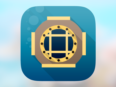 Just for Fun ios7 icon flat diver helmet
