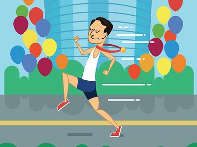 Birthday Card birthday marathon running
