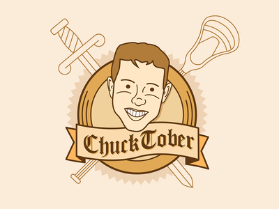 Chucktober illustration fall face line