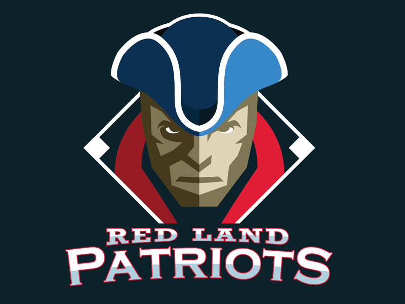 Red Land Patriots baseball logo