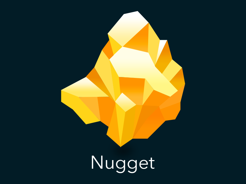 Nugget Icon logo icon sketch