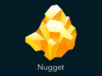 Nugget Icon logo icon sketch