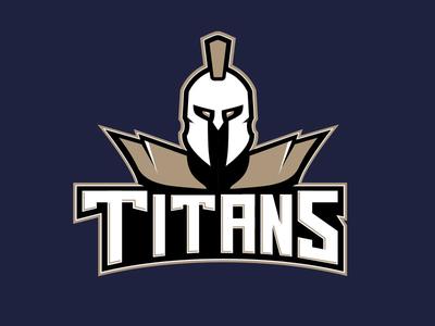 Titans Baseball Logo logo sports baseball titans