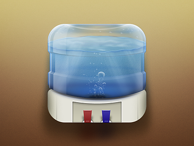 Water Cooler iOS Icon ios icon office water cooler