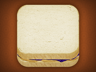 PB&J iOS Icon ios icon sandwich peanut butter jelly