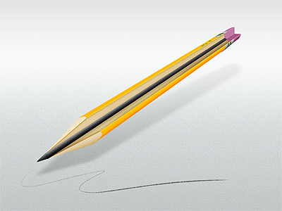 Pencil Cutaway cutaway illustration