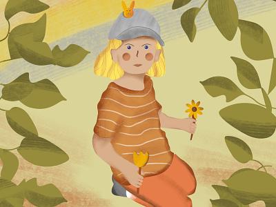 Children's Book Illustration - Isabell childrens book illustration girl portrait illustration design