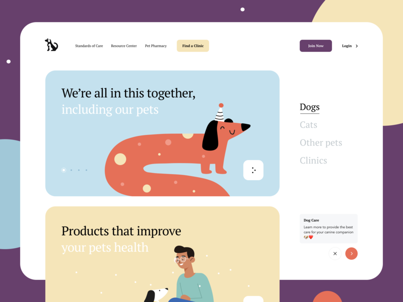 Made for your pet minimal creative interaction clean donate landing page pet adoption charity art illustration product design website animals dogs pet care pets